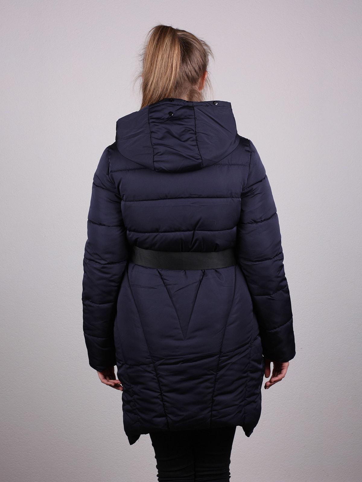 Пальто темно-синее   4690638   фото 3