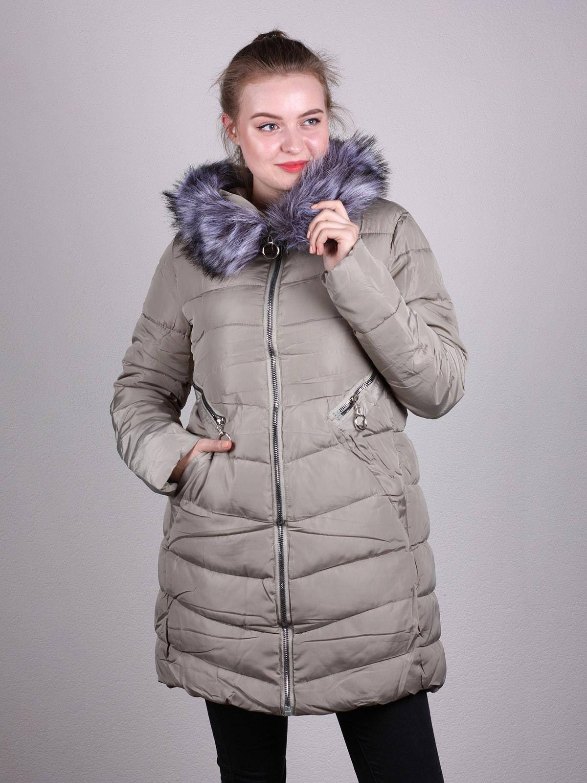 Пальто бежевое | 4690639