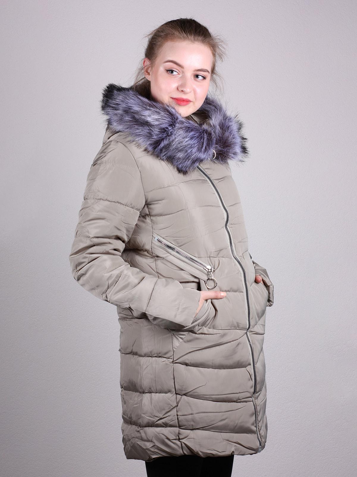Пальто бежевое | 4690639 | фото 2