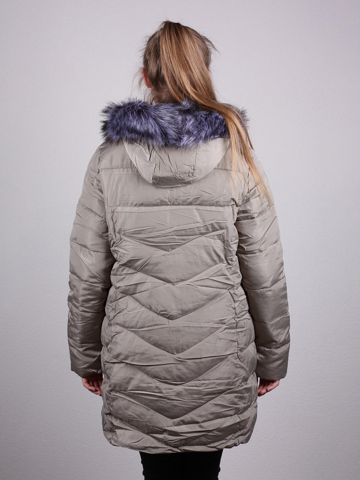 Пальто бежевое | 4690639 | фото 3