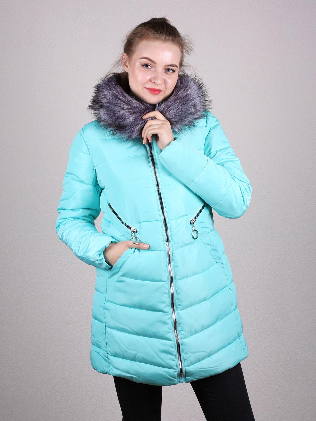 Пальто голубое | 4690640