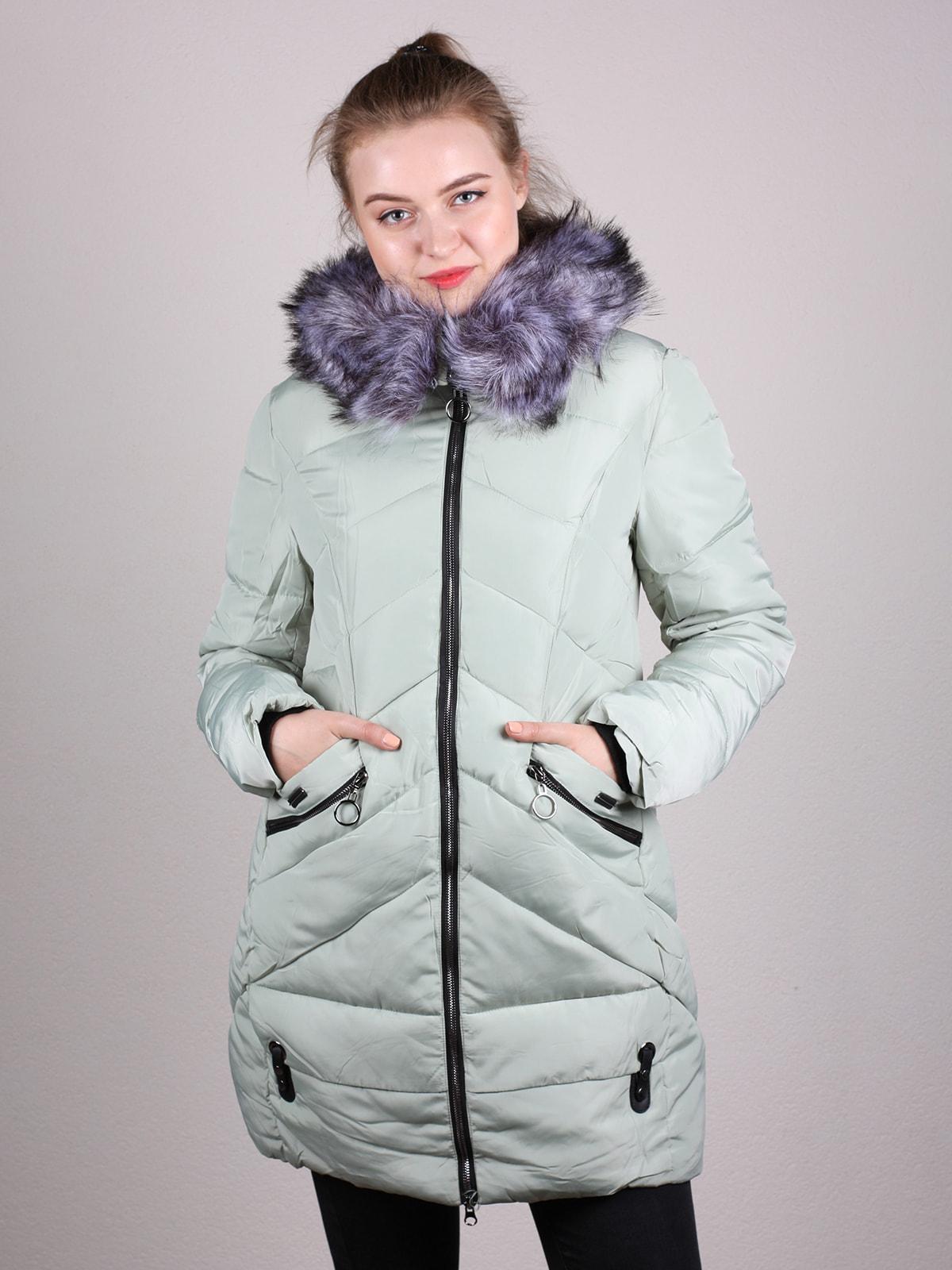 Пальто фисташкового цвета | 4690641
