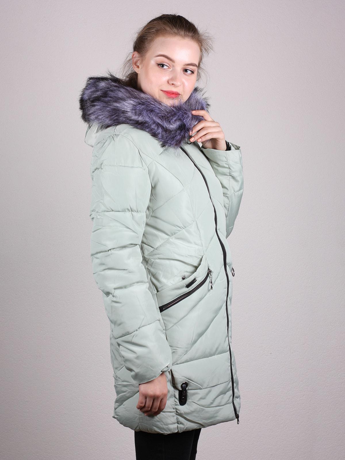 Пальто фисташкового цвета | 4690641 | фото 2