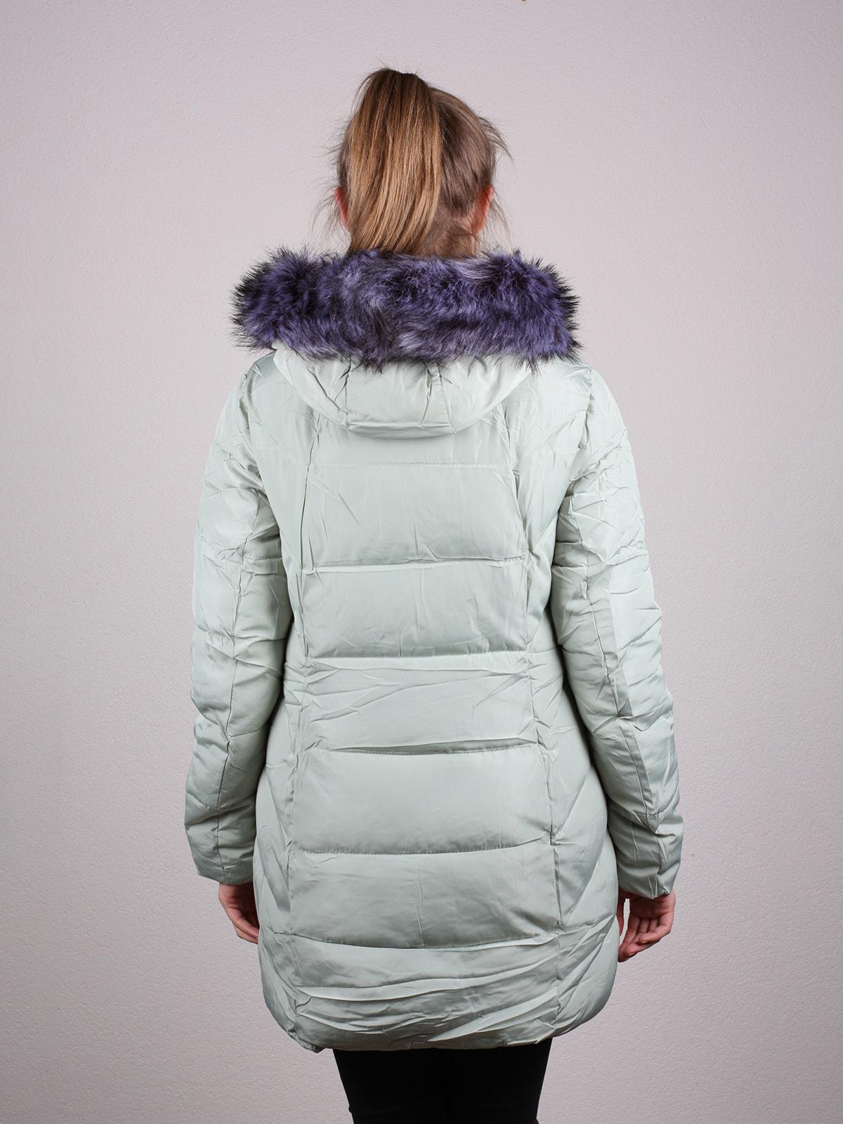 Пальто фисташкового цвета | 4690641 | фото 3