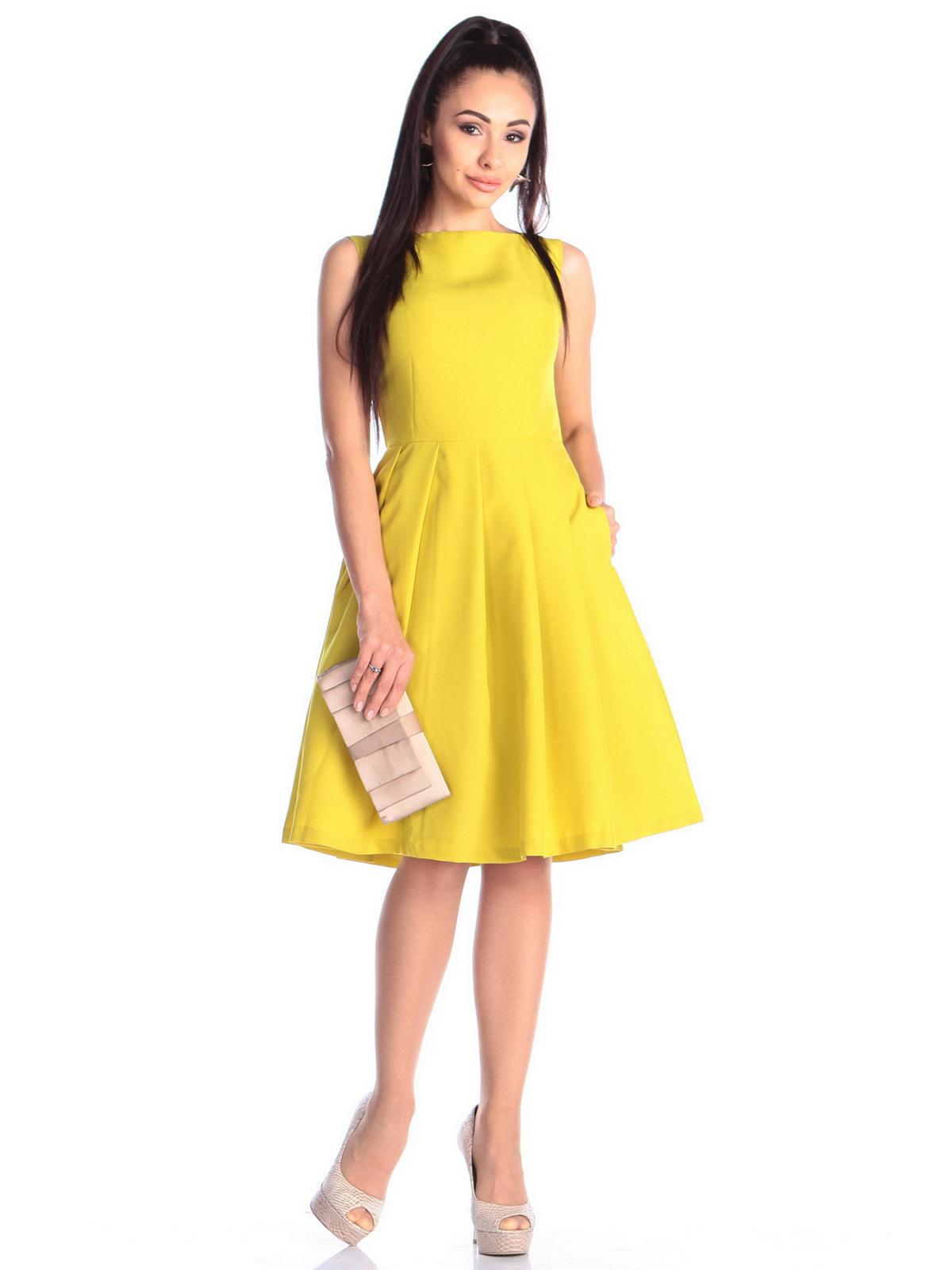 Платье желто-фисташкового цвета | 4690441