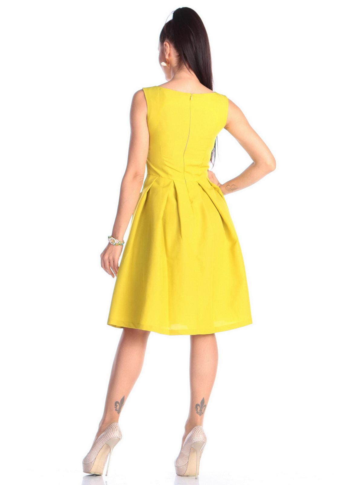 Платье желто-фисташкового цвета | 4690441 | фото 2
