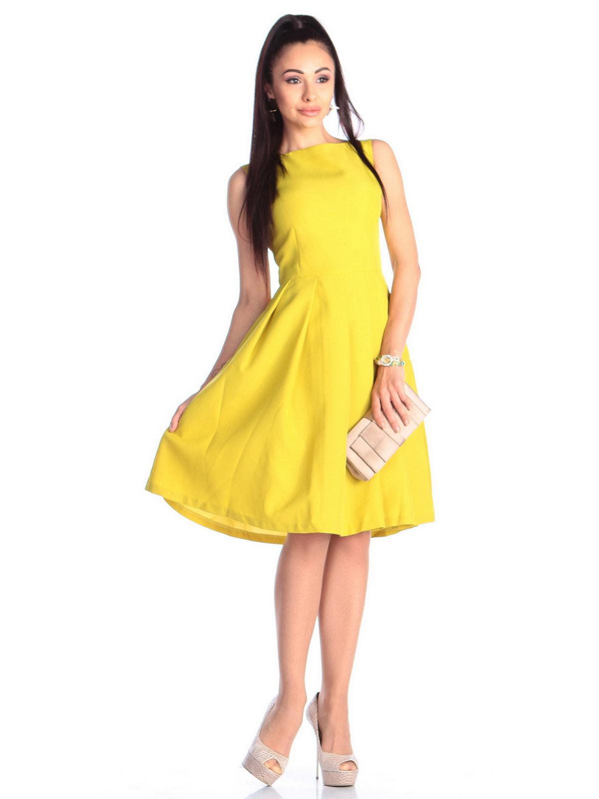 Платье желто-фисташкового цвета | 4690441 | фото 3