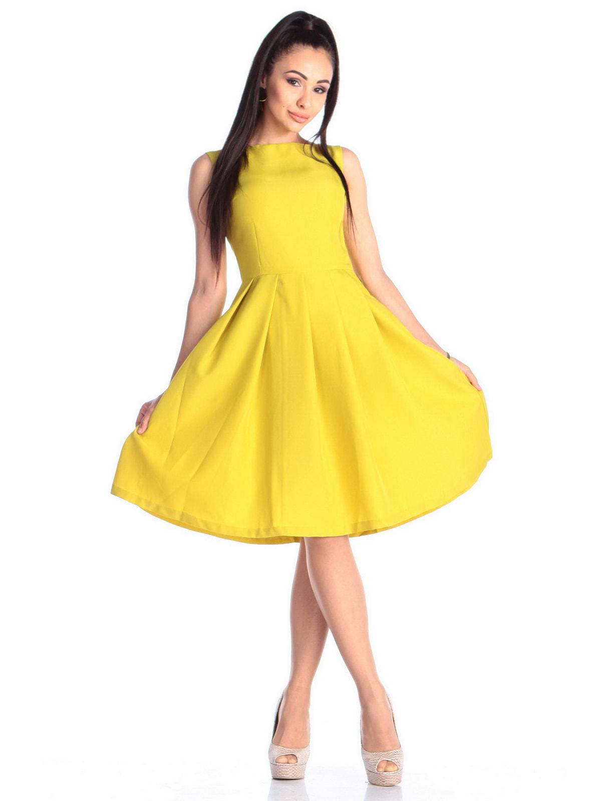 Платье желто-фисташкового цвета | 4690441 | фото 4