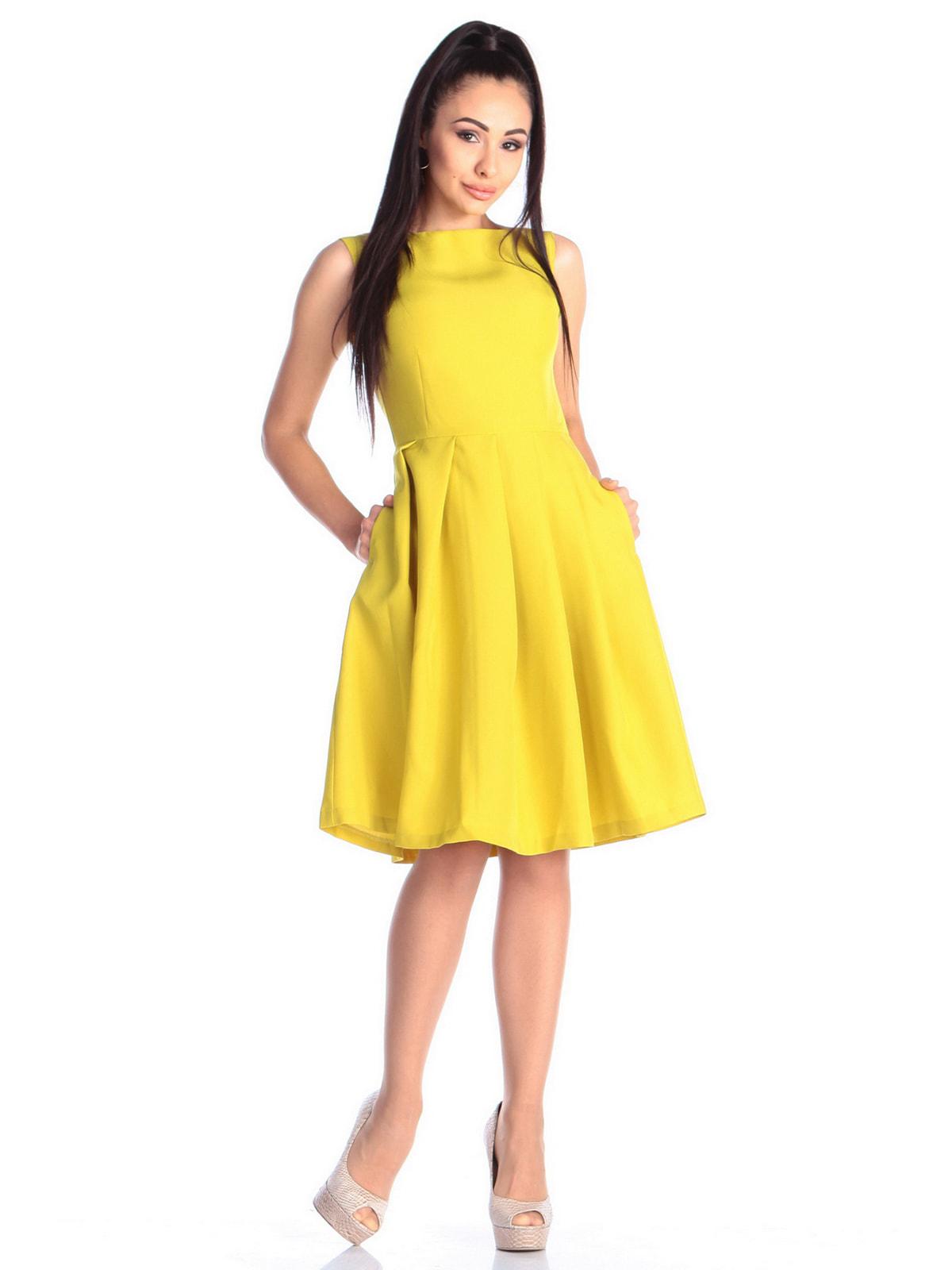 Платье желто-фисташкового цвета | 4690441 | фото 5