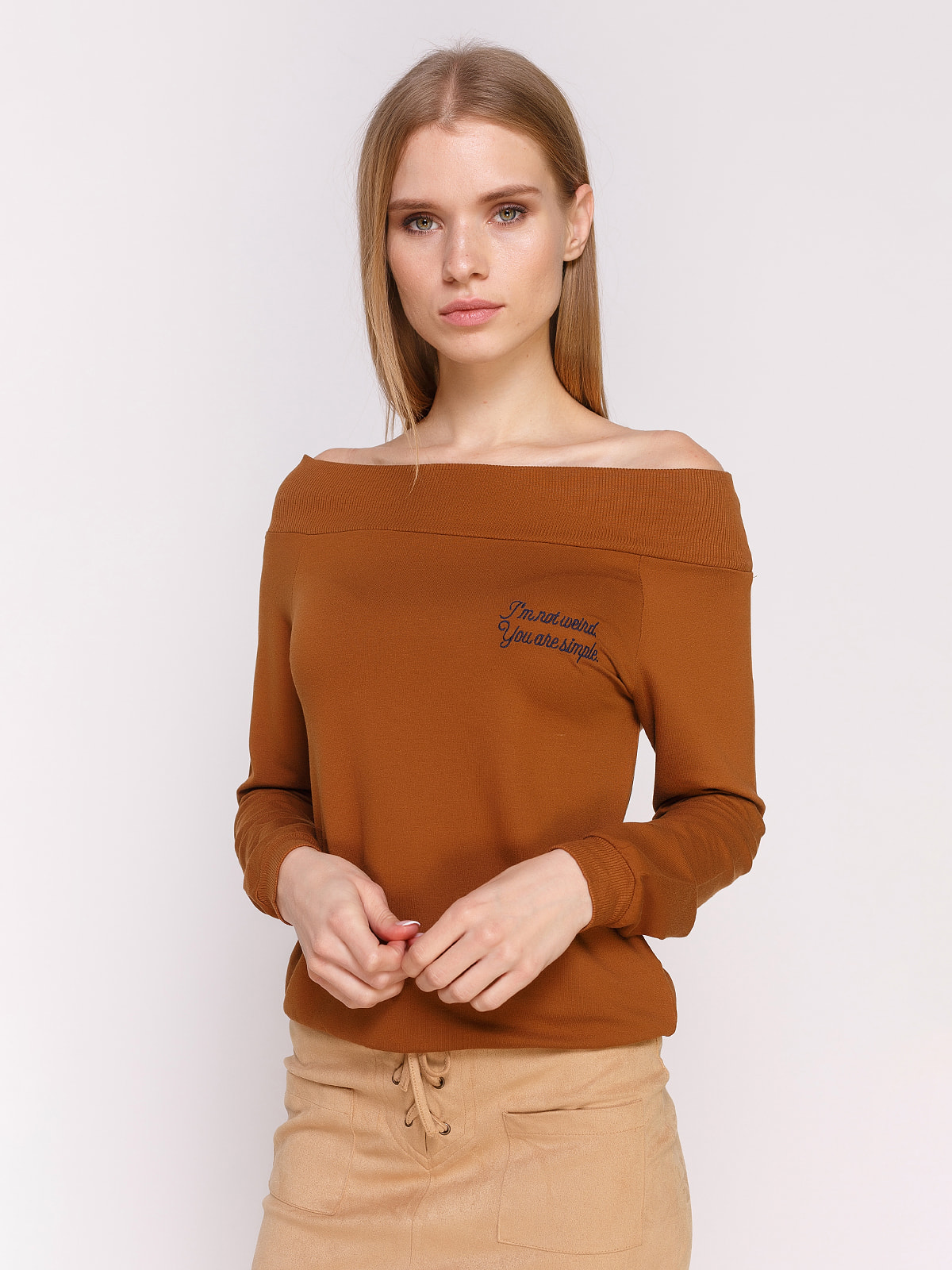 Джемпер коричневий | 4654933