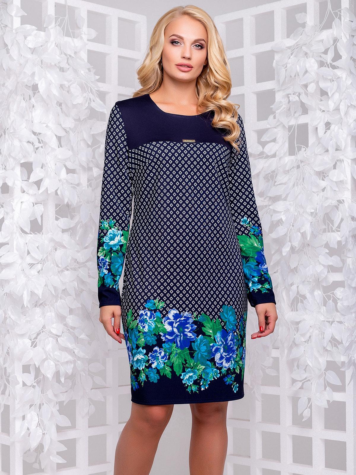 Платье в цветочный принт | 4692503