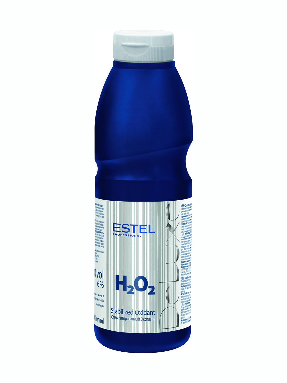 Стабилизированный оксидант для волос (6 %) De Luxe (500 мл) | 4693901