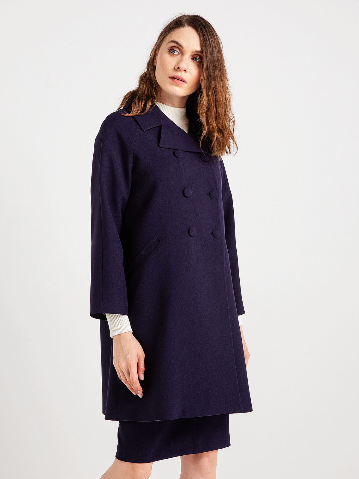 Пальто темно-синє | 4690829