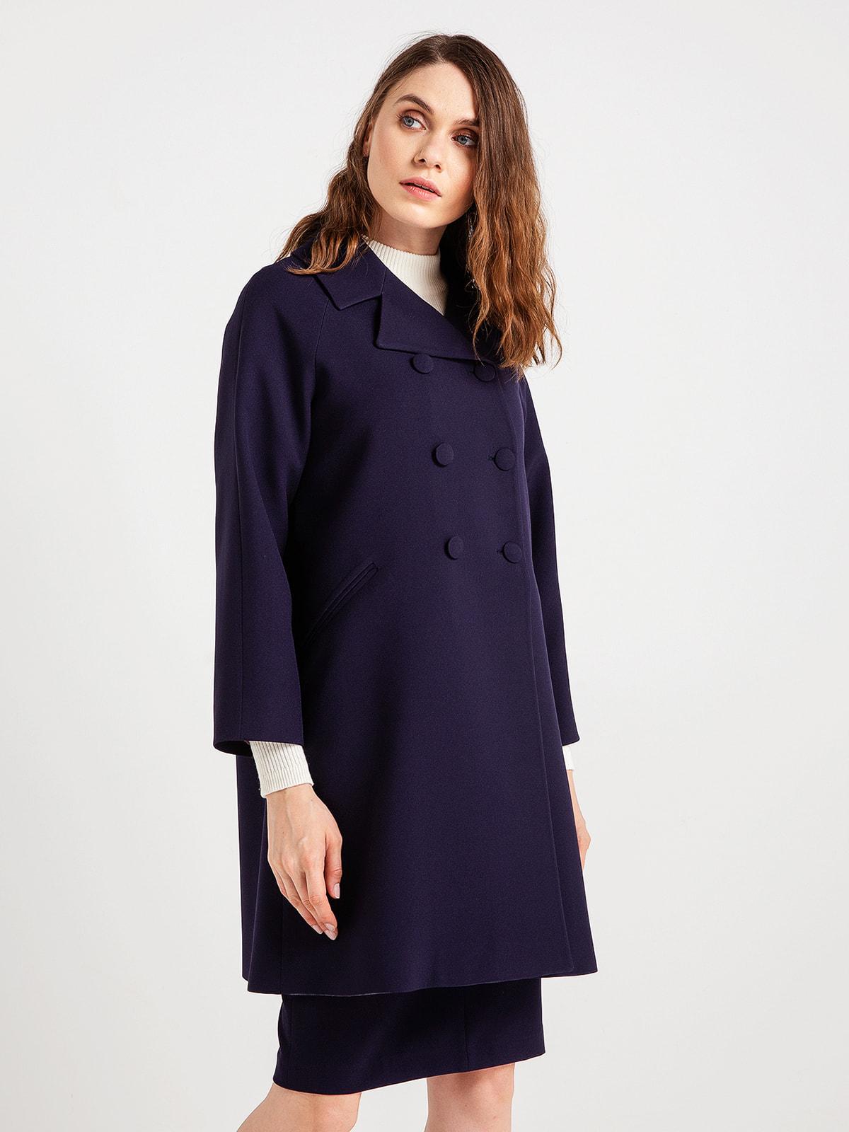 Пальто темно-синее | 4690829