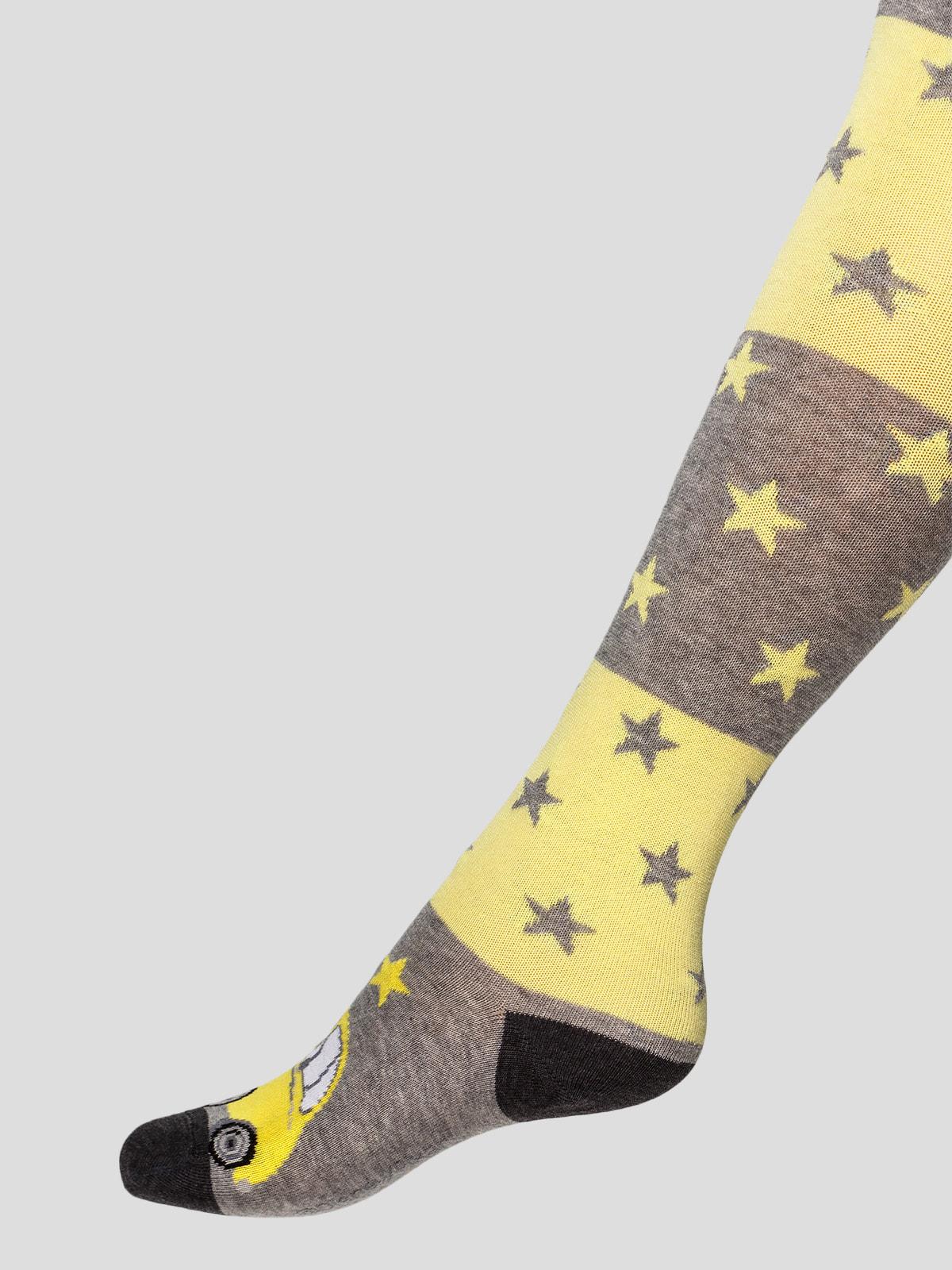 Колготки сіро-жовті | 4663598