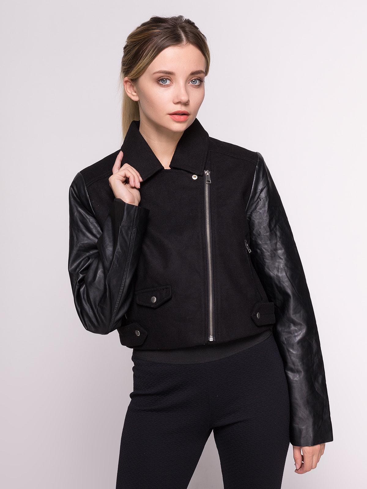 Куртка чорна | 4641630