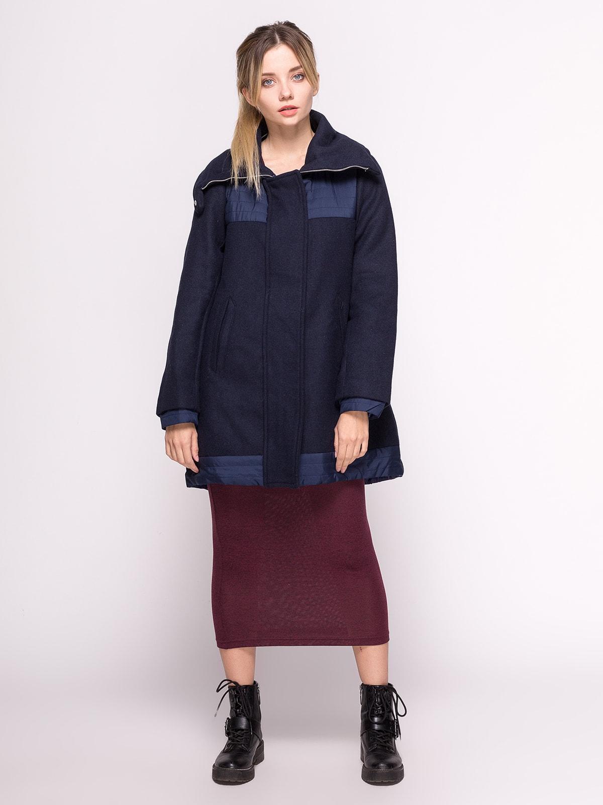 Пальто темно-синее | 4646693 | фото 2