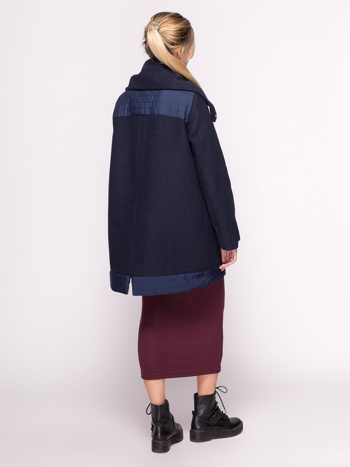Пальто темно-синее | 4646693 | фото 3