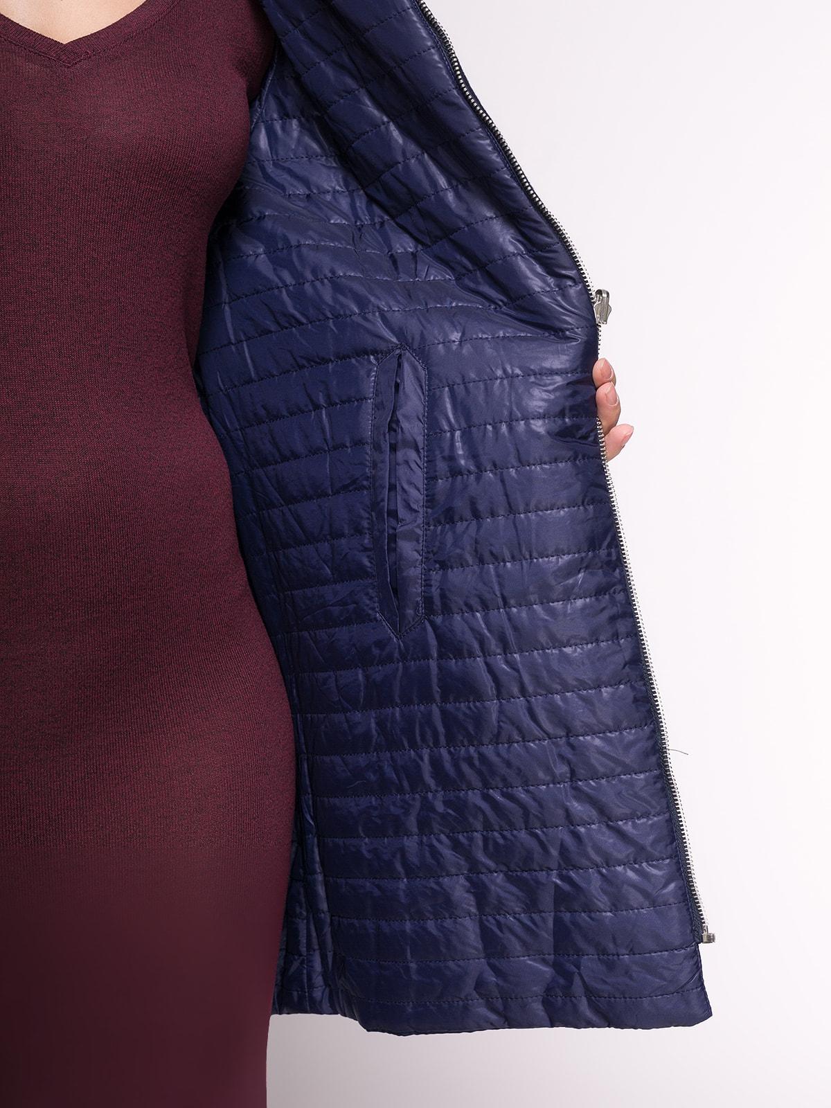 Пальто темно-синее | 4646693 | фото 4