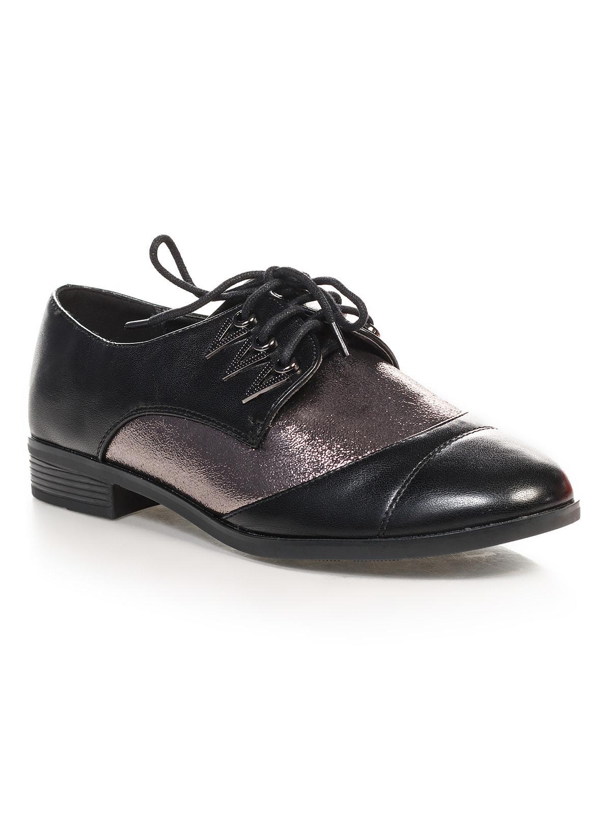 Туфли черно-серебристые   4692833