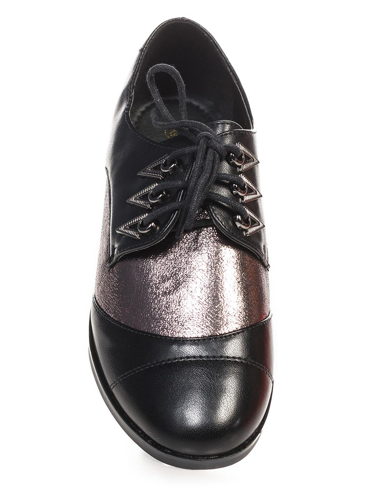 Туфли черно-серебристые   4692833   фото 4