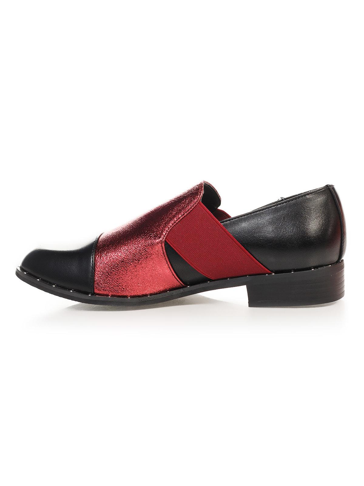 Туфли черно-бордовые | 4692838 | фото 2