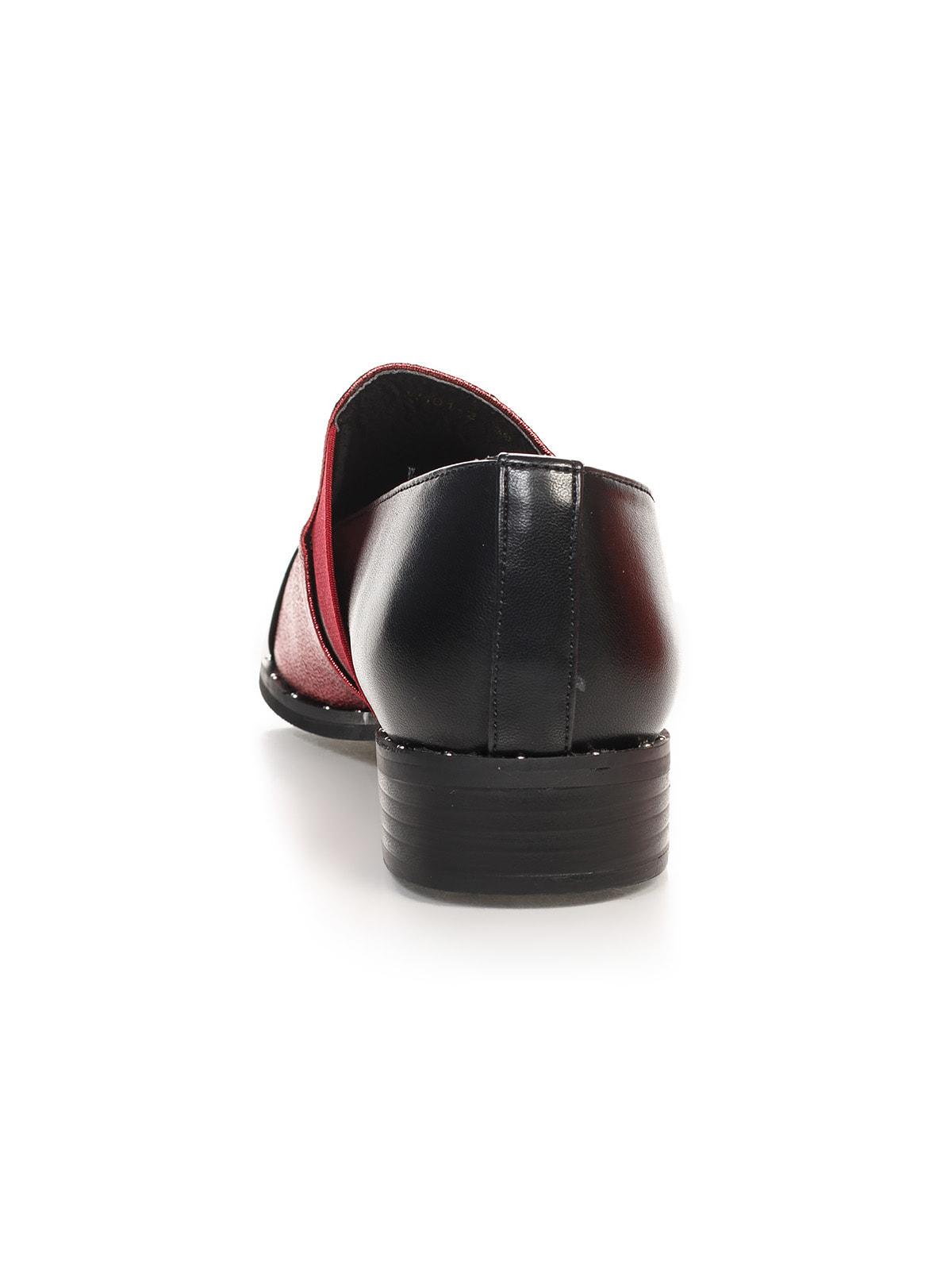 Туфли черно-бордовые | 4692838 | фото 3