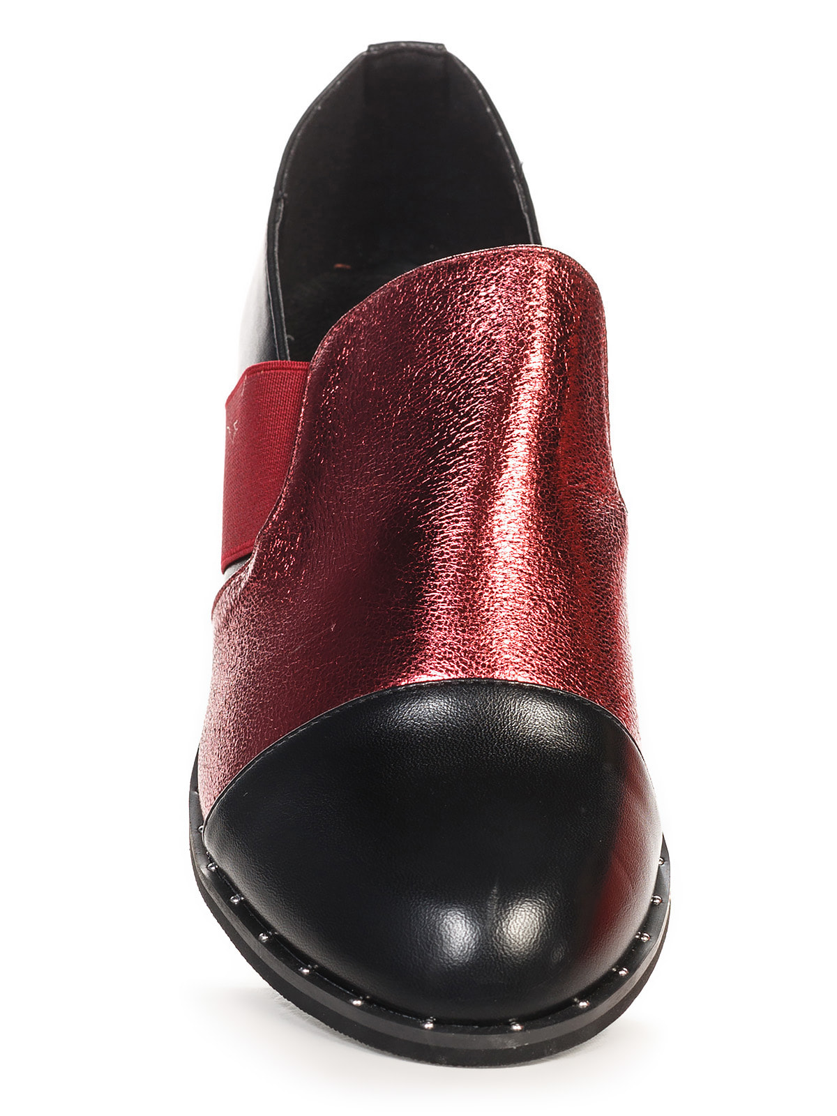 Туфли черно-бордовые | 4692838 | фото 4