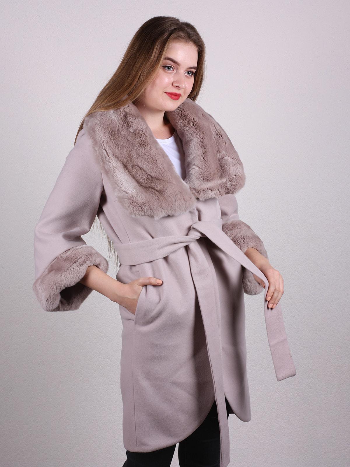 Пальто бежевое | 4697591