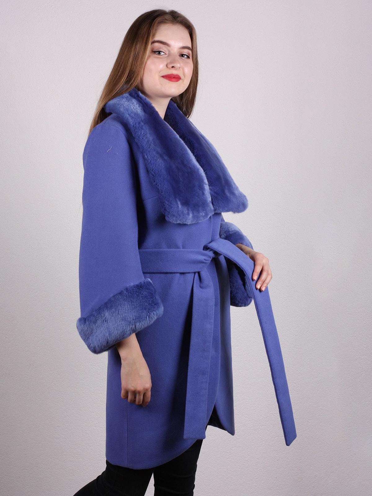 Пальто голубое | 4697592 | фото 2