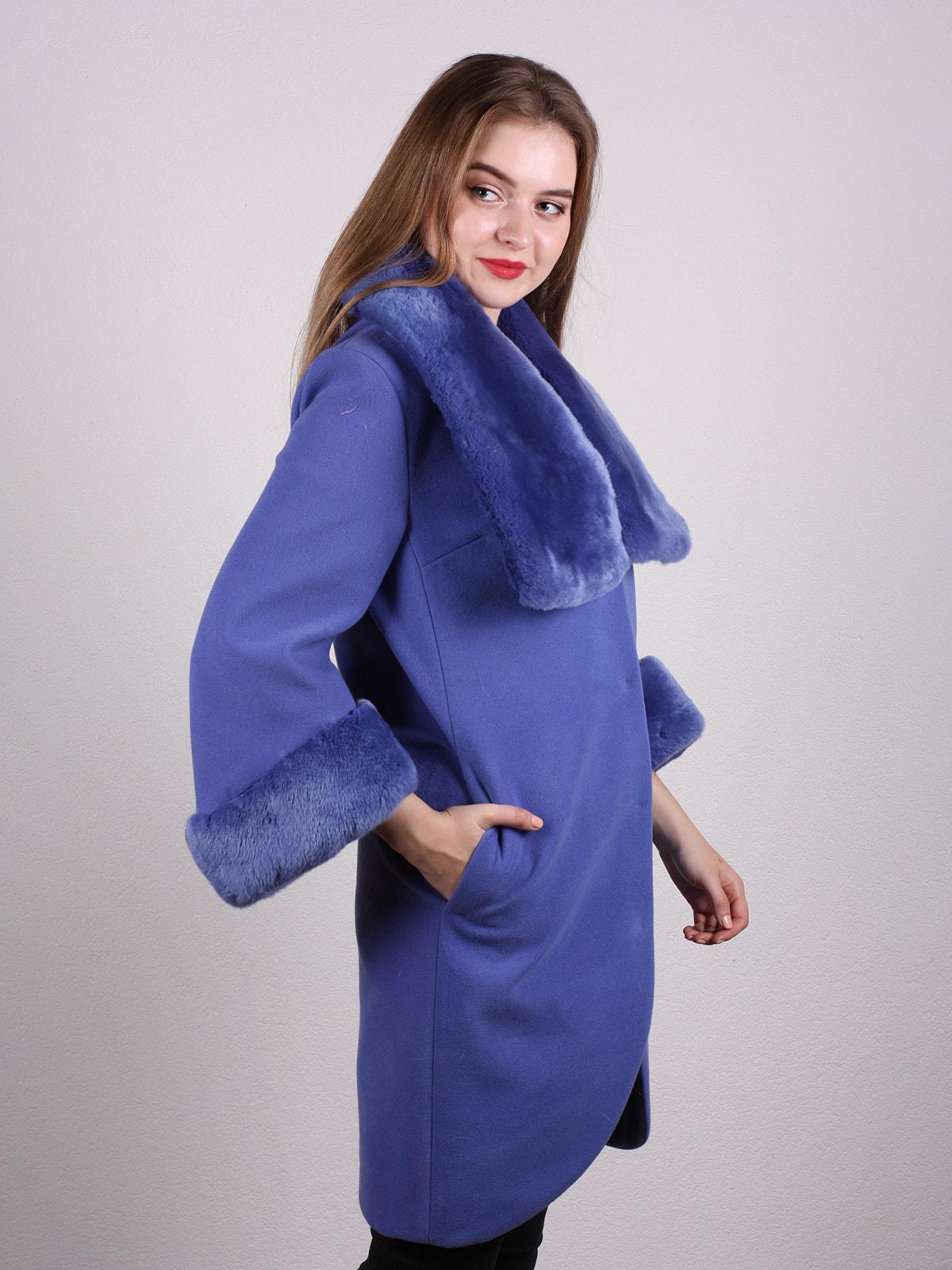 Пальто голубое | 4697592 | фото 3