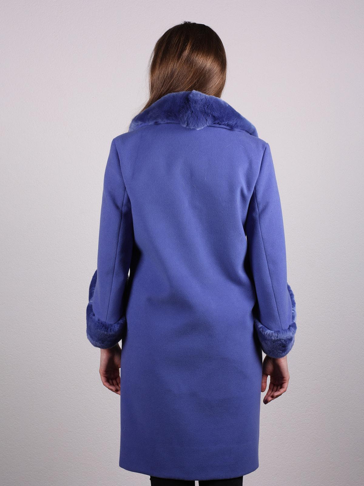 Пальто голубое | 4697592 | фото 4