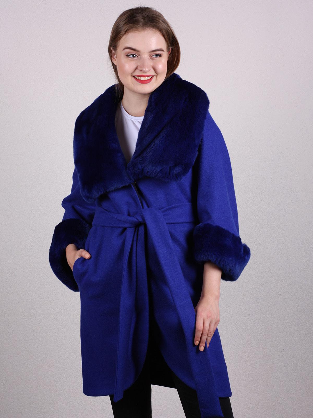 Пальто синее | 4697593