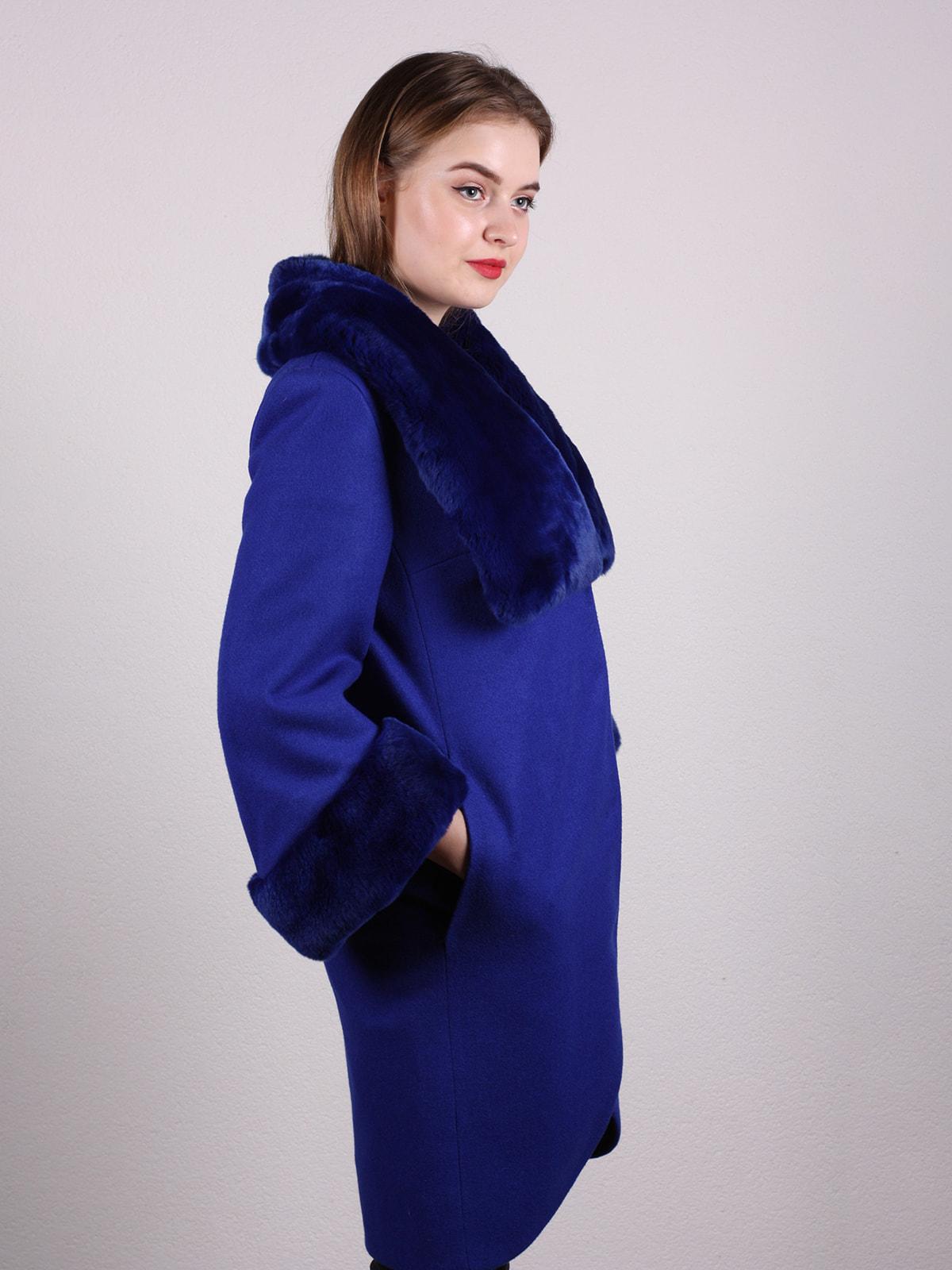 Пальто синее | 4697593 | фото 3