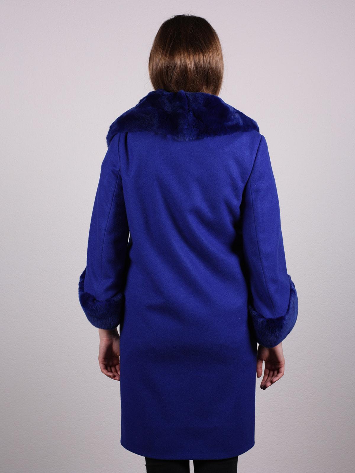 Пальто синее | 4697593 | фото 4