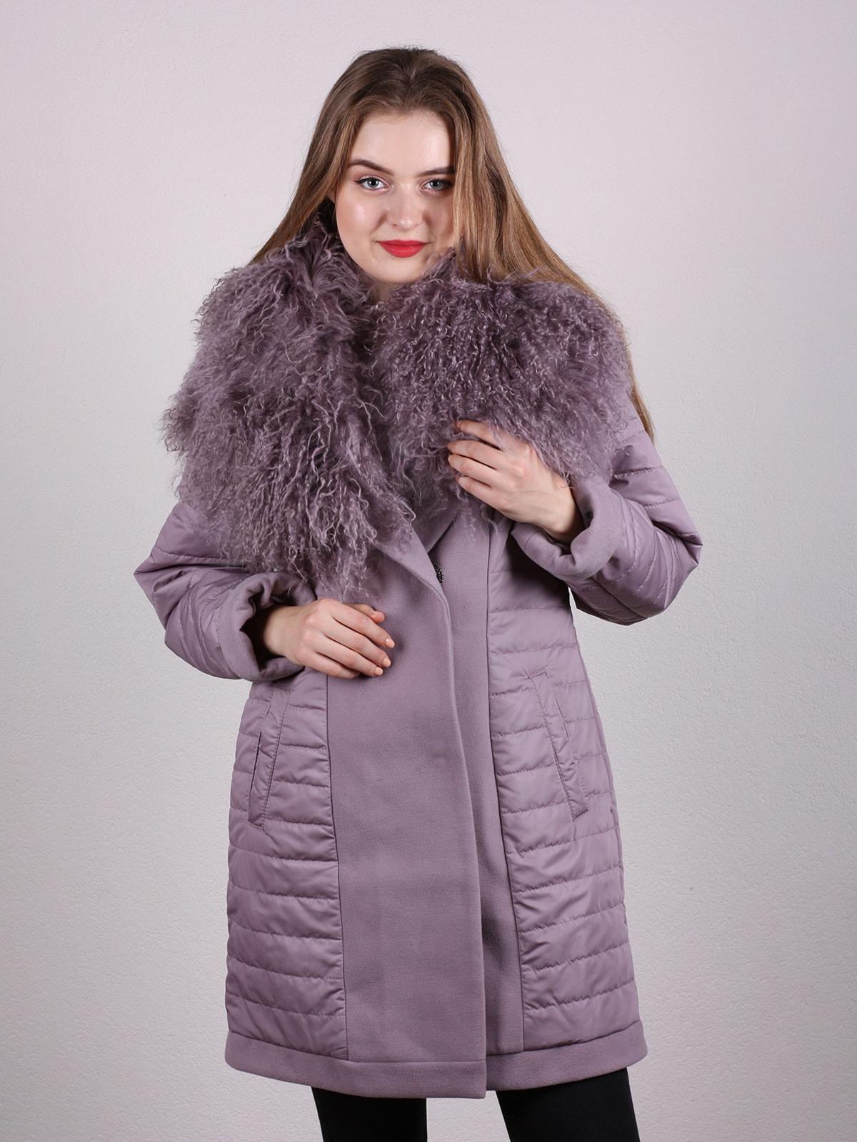 Пальто сиреневое   4697595