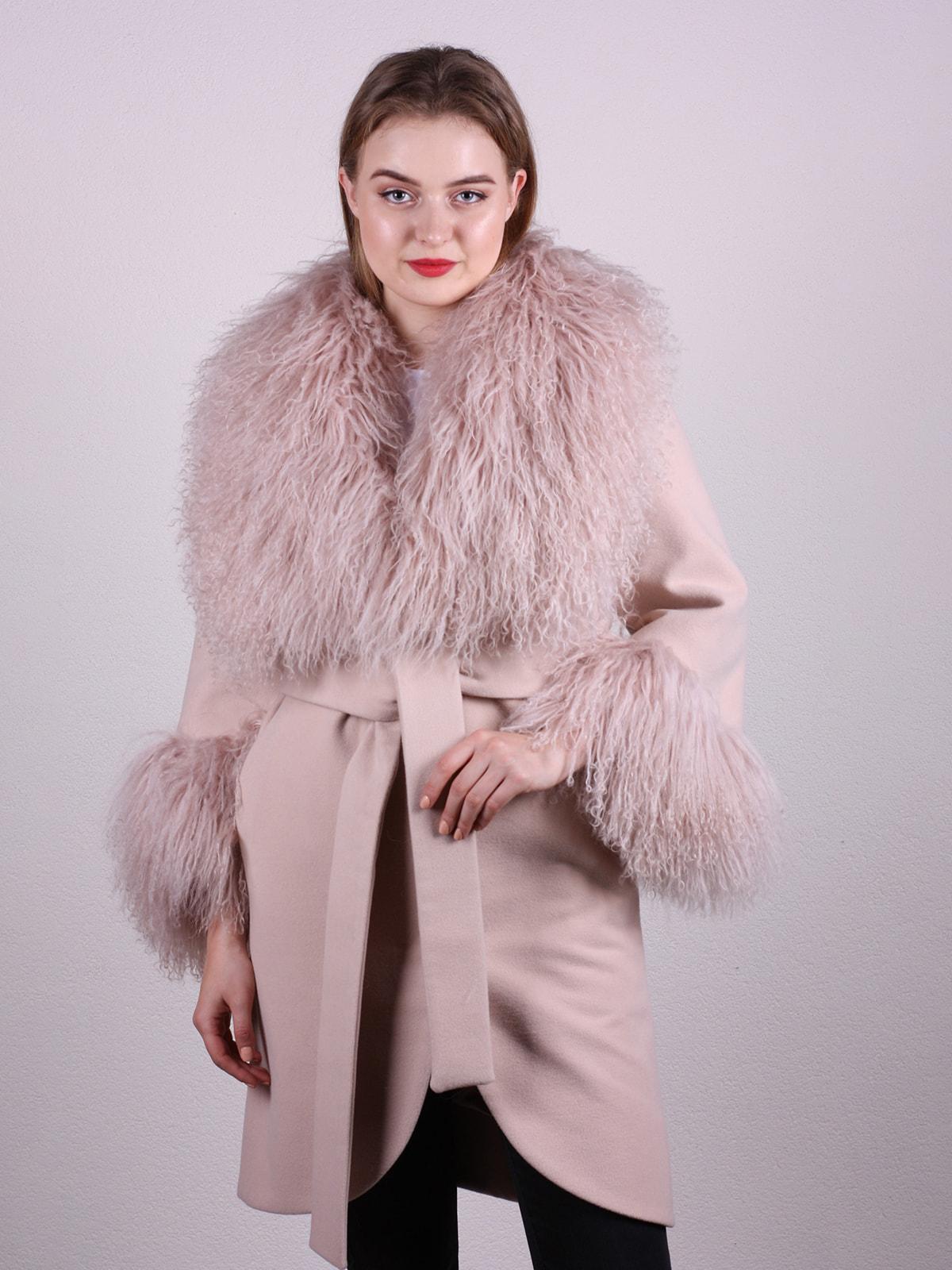 Пальто цвета пудры | 4697597