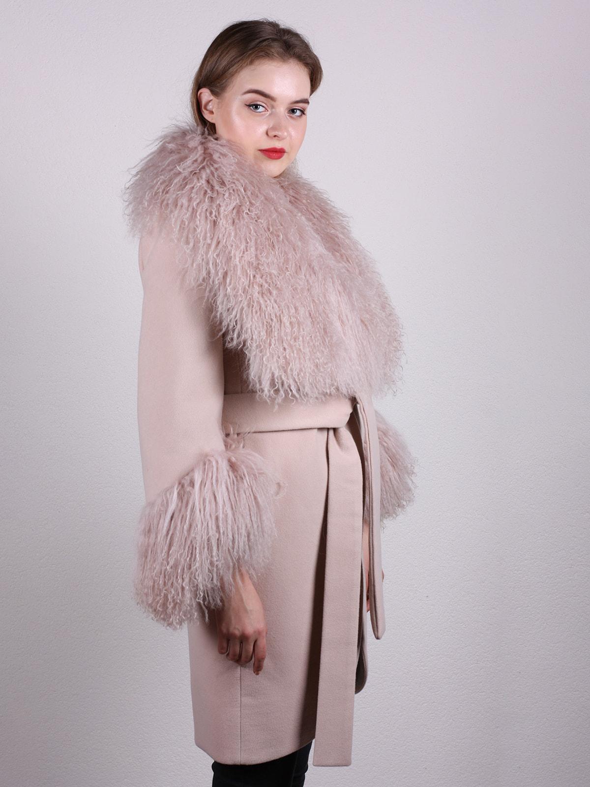 Пальто цвета пудры | 4697597 | фото 2