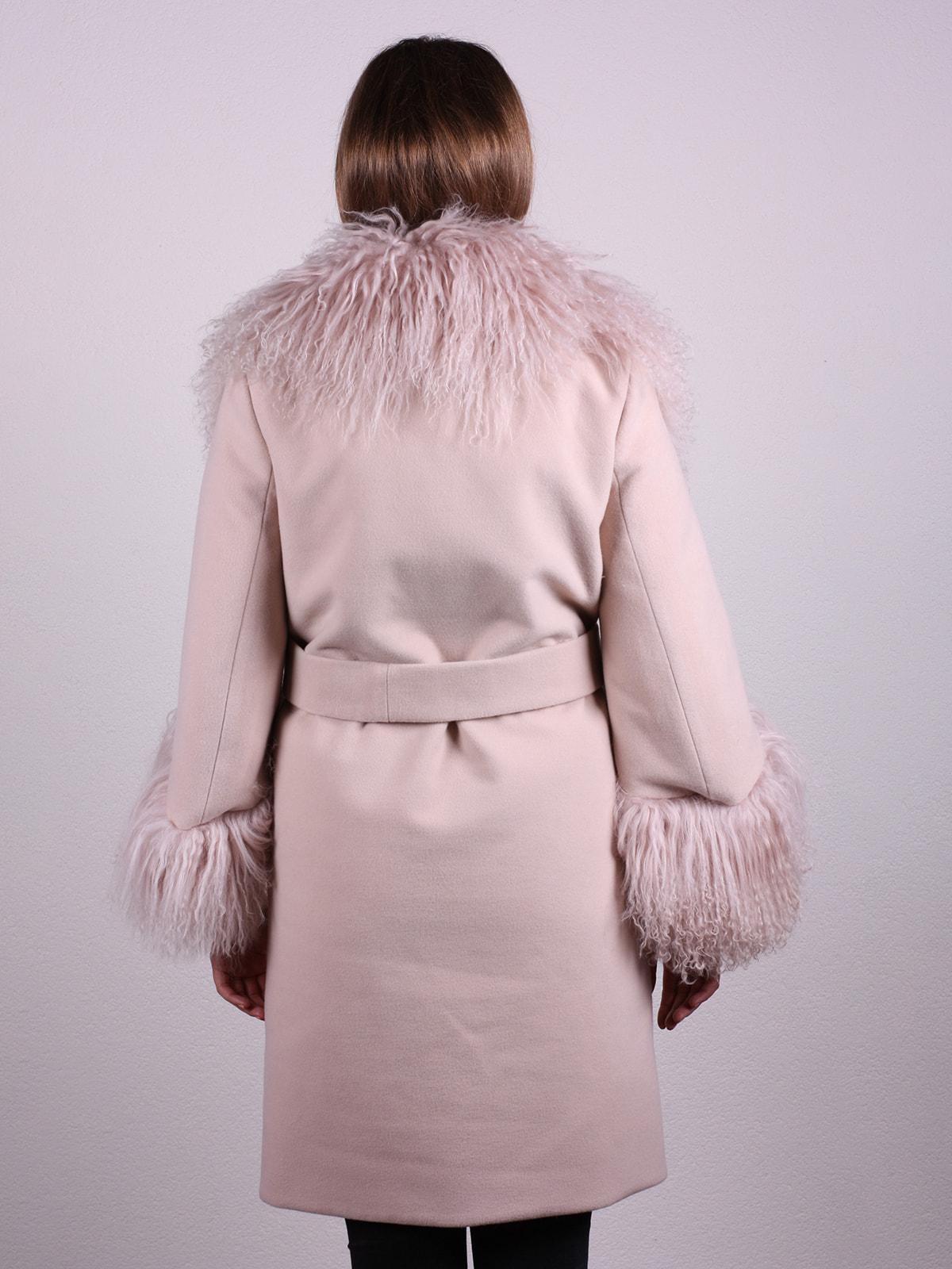 Пальто цвета пудры | 4697597 | фото 3