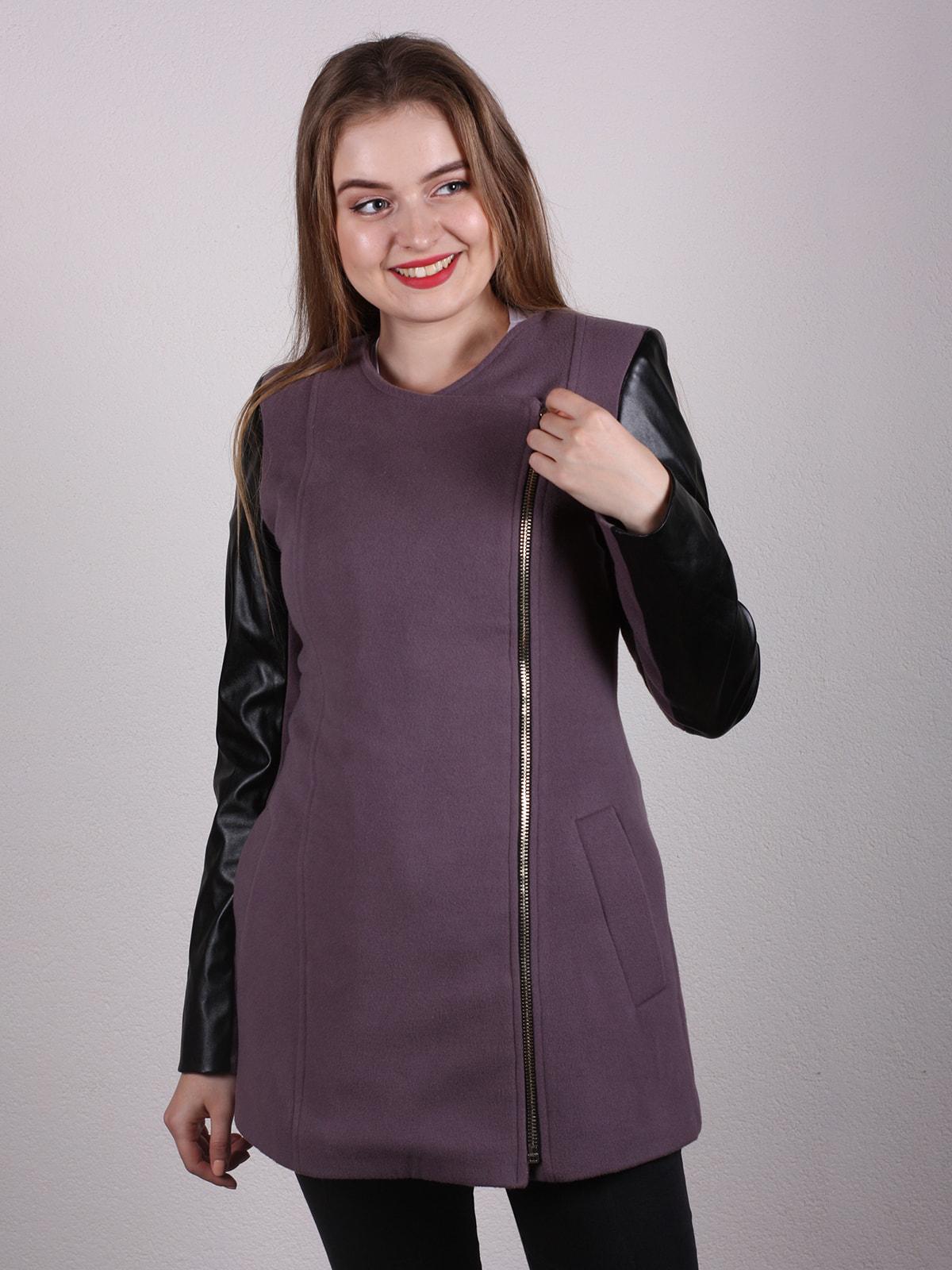Пальто двухцветное   4697607