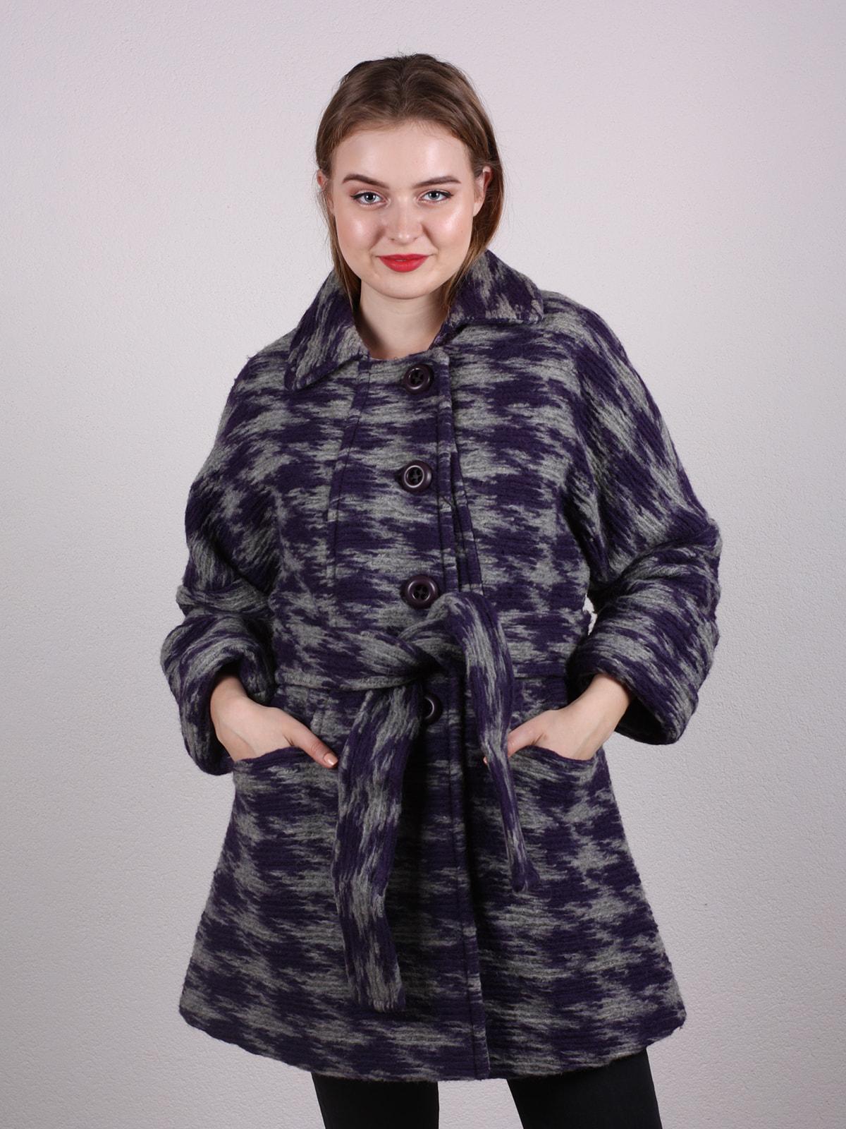 Пальто двухцветное | 4697608