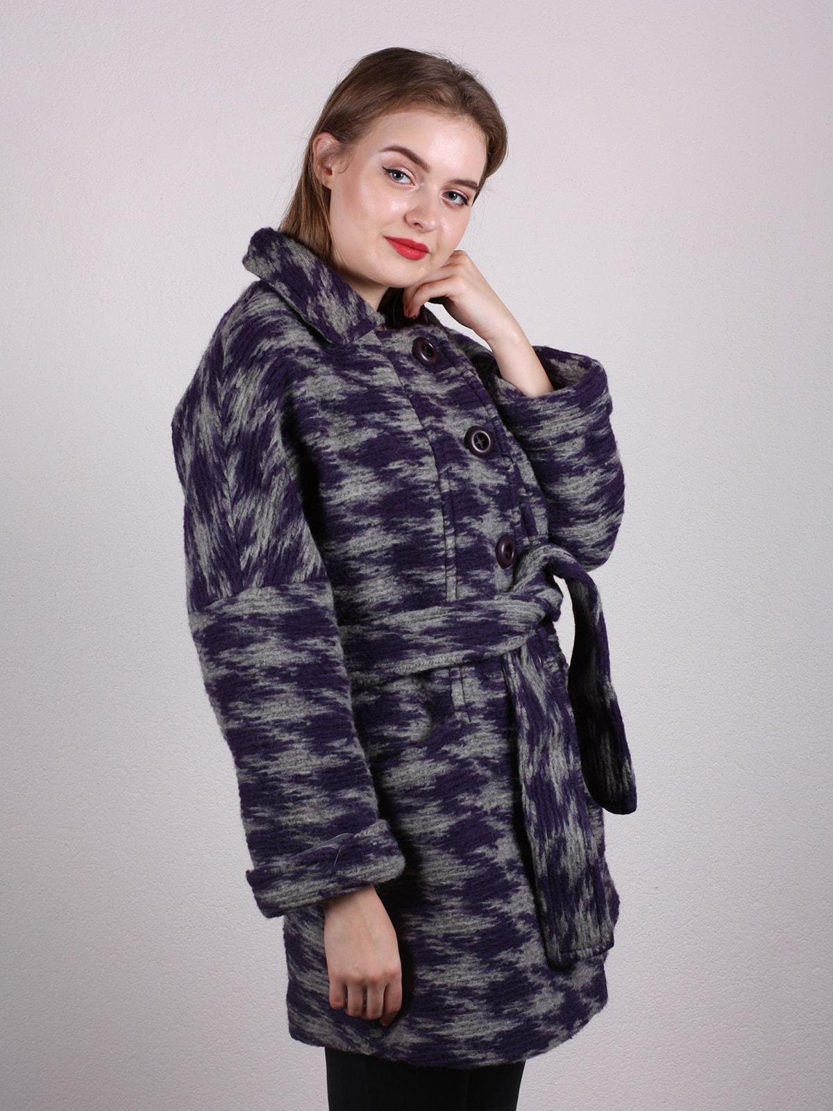 Пальто двухцветное | 4697608 | фото 2