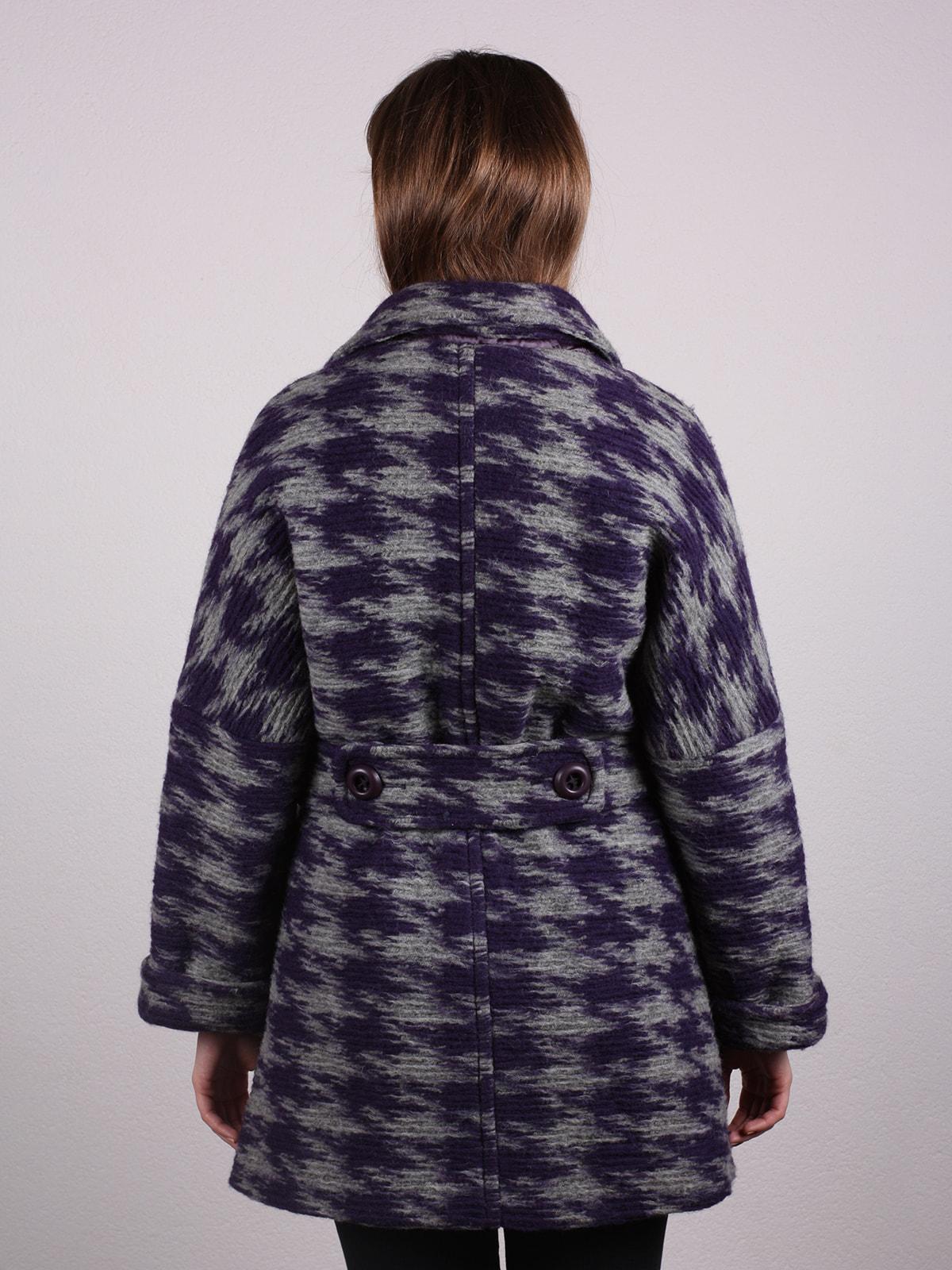 Пальто двухцветное | 4697608 | фото 3