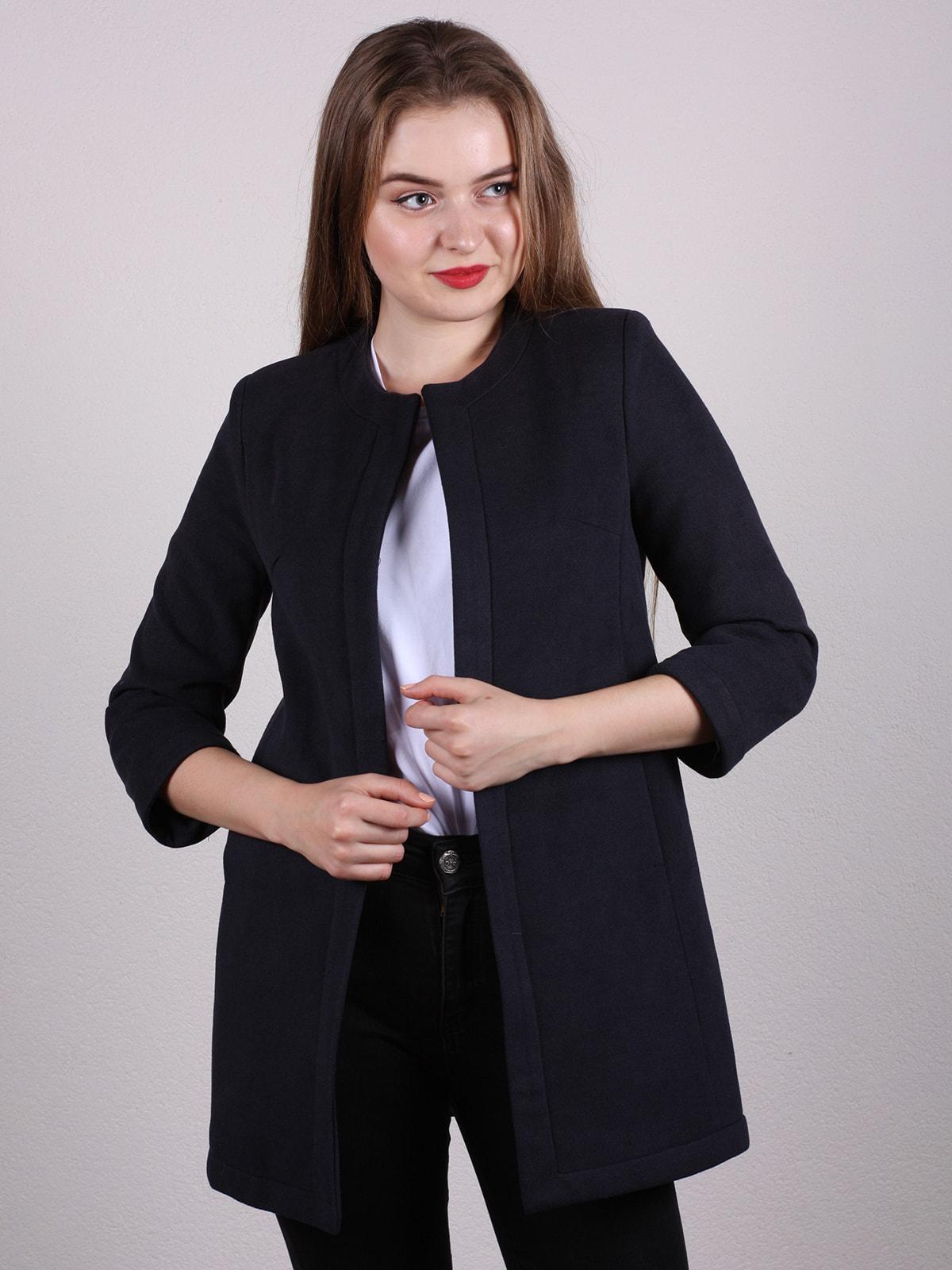 Пальто темно-синее   4697609