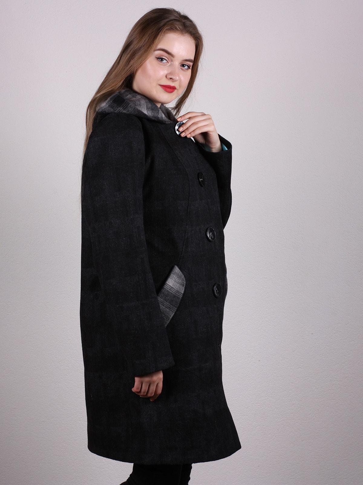 Пальто черное | 4697611 | фото 3