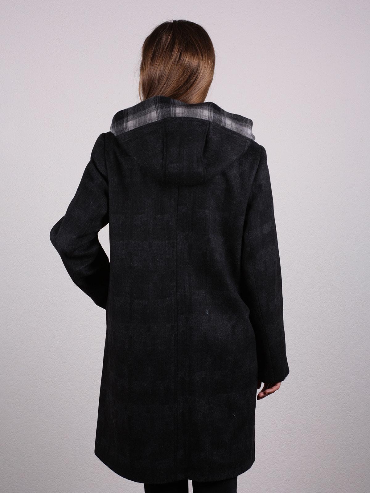 Пальто черное | 4697611 | фото 4