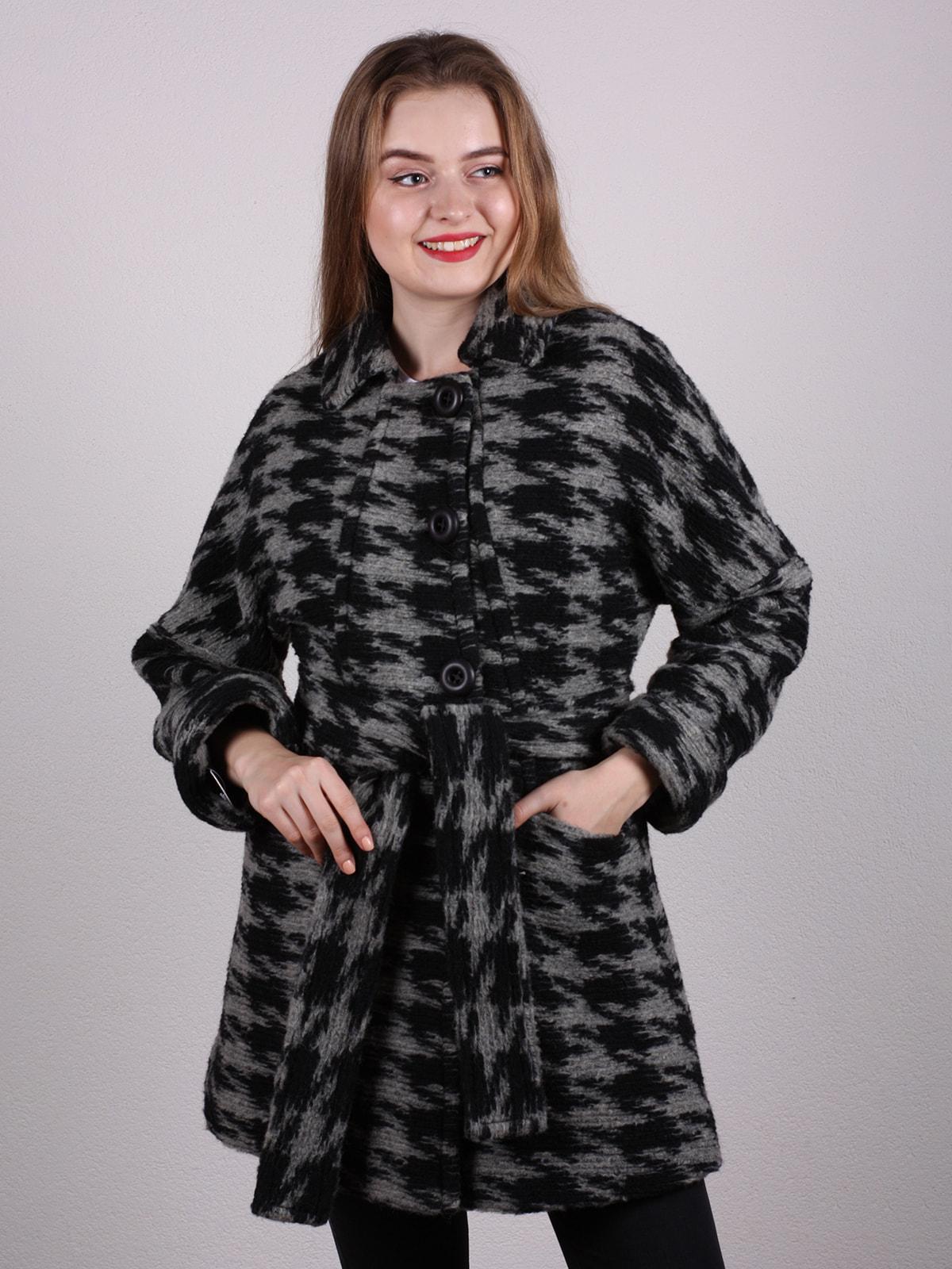 Пальто двухцветное   4697612