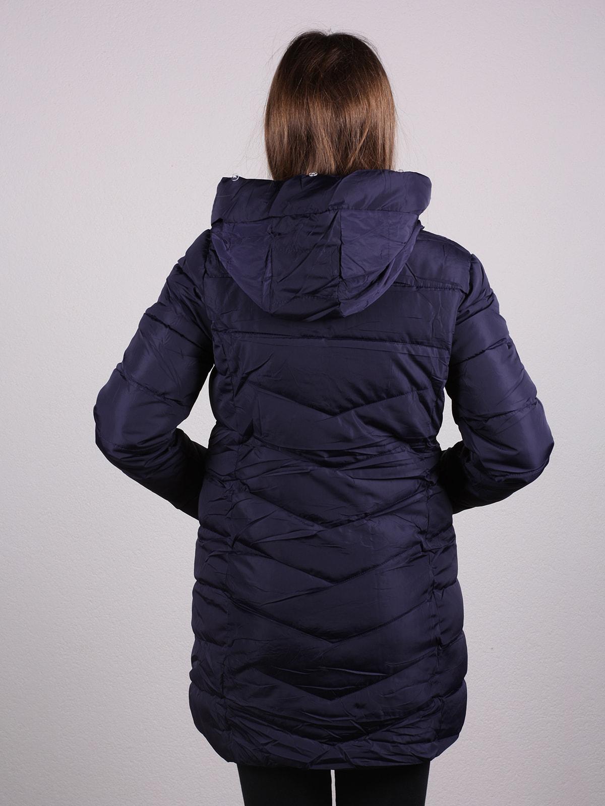 Пальто темно-синее | 4697635 | фото 3