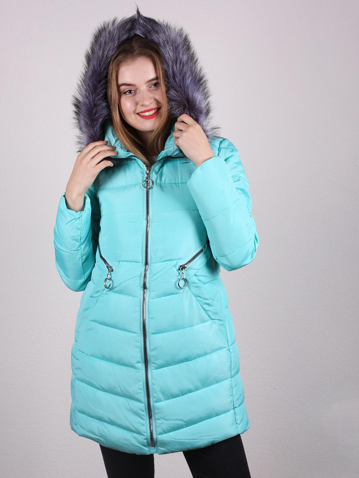 Пальто бірюзове | 4697648