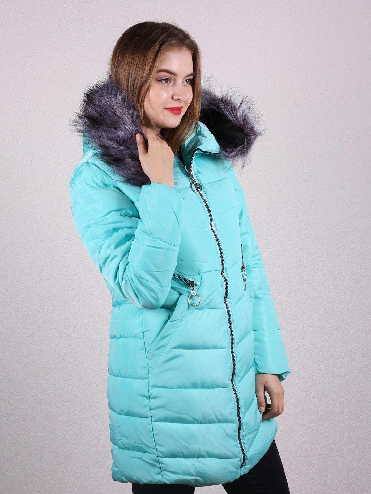 Пальто бірюзове | 4697648 | фото 2